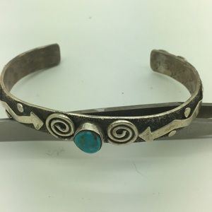Native Sterling Alex Sanches Turquoise Bracelet